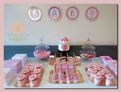 Dessert table to celebrate the birth of a beautiful baby girl! This set up was set up in the mother's hospital room! Girls Having A Baby, Hospital Room, Beautiful Baby Girl, Cookie Jars, Cookie Decorating, Cookies, Desserts, Dessert Tables, Food