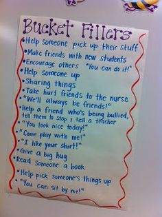 Simply Second Grade: Bucket Fillers My kids love the bucket filling concept