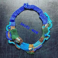 42 отметок «Нравится», 1 комментариев — Maria Panayotidou (@mariellascode) в Instagram: «My freeform necklace #mariellascode #handmade❤️ #beadednecklace #freeformpeyote…»