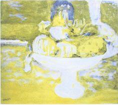 Pierre Bonnard, Coupe de fruits, lithographie.