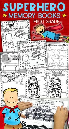 Give your Kindergarten or 1st grade students an end of year, superhero send-off! Kids love the graphic novel style design of the activities in these superhero memory books. Filled with activities for students to write about their year and their learning superpowers, plus a focus on the power of our words, kindness, friendship, and respect. Perfect for that last crazy week of school and a great addition to your superhero classroom. Add the Kindergarten or first grade cover for a memory book…