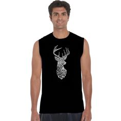 1dd9f3043fe8d6 Los Angeles Pop Art Men s Sxdeer Types of Deer Sleeveless T-shirt