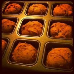 Low Cal Pumpkin Muffins: 1 box yellow cake mix, one 15oz can pumpkin, 3 tbsp Trader Joe's Spicy Chai (or similar spice blend). Bake at 350 for 15 mins. Modify by adding  walnuts, pecans, choc chips or frosting - use what you have! 110 calories for the basic recipe.