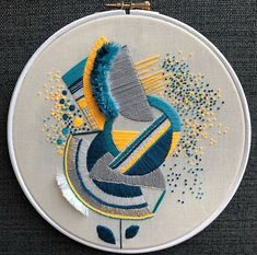 Embroidery Projects Hand Textile Art 68 Ideas For 2019 New Embroidery Designs, Embroidery Monogram Fonts, Etsy Embroidery, Christmas Embroidery Patterns, Embroidery Hoop Art, Flower Embroidery, Embroidery Machine Reviews, Machine Embroidery Projects, Abstract Embroidery