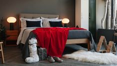 Contemporary Nordic look bedrooms by Natural Bed Company Bed Company, Christmas Bedroom, Bedrooms, Bedroom Decor, Warm, Contemporary, Natural, Furniture, Home Decor
