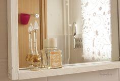 Fürdőszoba részlet, DIY tükör, mirror, DIY, home staging