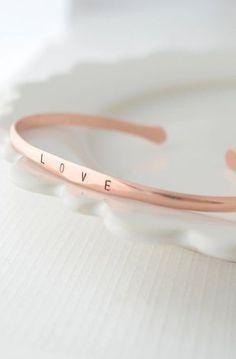 Name Bracelet - custom bangle bracelet with name in copper