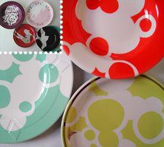 Vintage Plates 'rehabilitated' by Sarah Cihat.