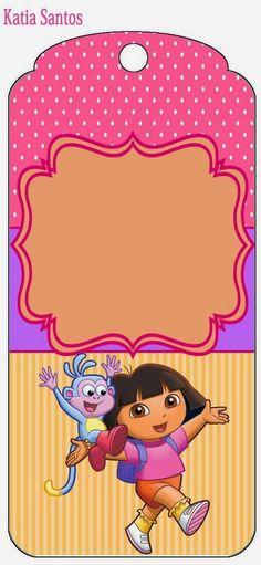 Dora Exploradora: Etiquetas para Candy Bar para Imprimir Gratis.