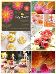 Flower Baby Shower Inspiration Board