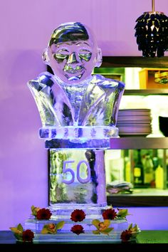 """DR M Loves An """"Ice Carved Bust"""" For A Masquerade Party..."""