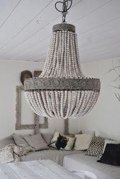 Beaded Chandelier, Chandelier Lighting, Chandeliers, Unique Chandelier, Pinterest Inspiration, Diy Luminaire, Interior Decorating, Interior Design, Light Fittings