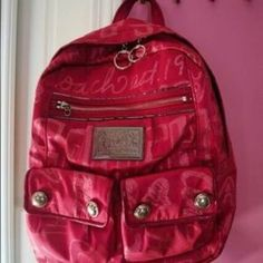 Coach Poppy Pink Backpack