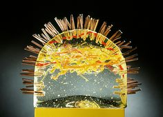 Hillary Faccio, sand cast glass artist