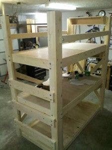 Triple bunk bed...he shows a video and gives ideas about building beds, etc.
