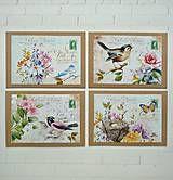 Papiernictvo - Jarný pozdrav karty/obálky N.3 - 8025142_