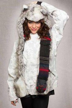 Spirit Hoods Mountain Artic Fox    $155.00