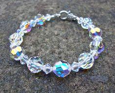 #jewelry Swarovski crystal bracelet  crystal bracelet by sparklecityjewelry, $36.00