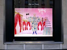 "Illustrations ""IRIS IN PARIS"""" exhibition about Iris Apfel venue in Paris   book , Scarf & 3D illustrations for the window displays       ..."