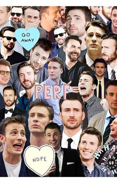 Chris Evans Collage