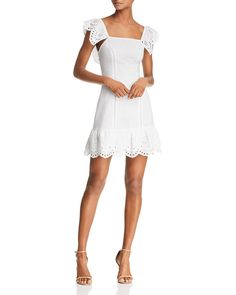 Finders Keepers Ivory Dress White Chic Dresses Eyelet