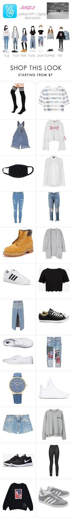 """""""Vapp dance special // Crush era"""" by official-angel ❤ liked on Polyvore featuring Jonathan Saunders, Ralph Lauren, Topshop, River Island, Boohoo, Timberland, MANGO, adidas, Ted Baker and RE/DONE"""