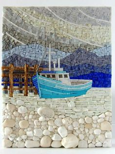 I want to do a rock mosaic for Art prize. Spray rocks to polish and place over painted wood.