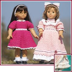 Victorian Elegance II: more Victorian-inspired dresses for 18 inch dolls.