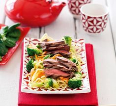 Healthy Recipes: Thousands of perfect meals from Healthy Food Guide Healthy Noodle Recipes, Healthy Salads, Healthy Eating, Healthy Food, Healthy Dinners, Beef Tataki, Lemon Pasta, Fodmap Recipes, How To Cook Steak
