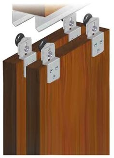 SAHECO SF-30 Top Hung Kit - A top hung track system for wardrobes, cupboards and similar doors. The SF-30 allows two or more doors to slide past each other. Suitable for light domestic use.