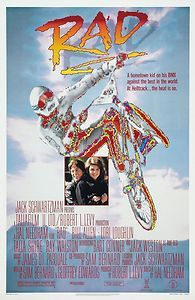 movie posters from the 80s | Rad Movie Poster 1987 BMX 80s Motorcross | eBay
