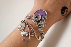 Jasper bracelet, Wire Wrapped Bracelet, Silver Cuff Bracelet, Wire Wrapped Jewelry Handmade, Wire Wrap Jewelry, Gift for Her by BeyhanAkman on Etsy