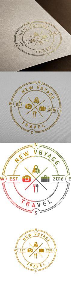 Logo design for NEW VOYAGE TRAVEL