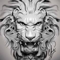 26 trendy tattoo lion of judah Lion Head Tattoos, Dog Tattoos, Sleeve Tattoos, Tattoo Artwork, Tattoo Drawings, Statue Tattoo, Lion Tattoo Design, Armor Tattoo, 3d Cnc