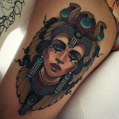 Egyptian Queen Tattoo by Vitaly Morozov