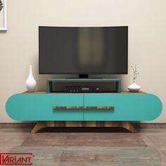 Comoda Tv Rose - Turcoaz/Nuc Flat Screen, Design, Cots, Blood Plasma, Flatscreen, Dish Display