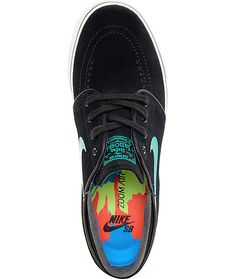 premium selection dffe0 96b30 Nike SB Janoski Black  Hombre Blue Suede Womens Skate Shoes