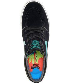 premium selection 8f925 a953c Nike SB Janoski Black  Hombre Blue Suede Womens Skate Shoes