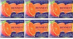 Natural BENNETT Soap Extracts Vitamin C-E Skin Wrinkles Whitening Clear 130g x 6 #BENNETT
