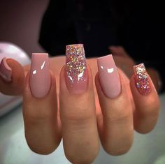 Square Acrylic Nails, Summer Acrylic Nails, Best Acrylic Nails, Summer Nails, Stylish Nails, Trendy Nails, Cute Nails, Cute Acrylic Nail Designs, Nail Art Designs