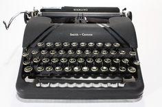 Vintage Sterling Smith Corona Manual Typewriter by FishboneDeco, $220.00