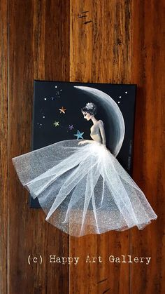 Moon Princess Fairy doll fairy house pixie princess birthday gift mermaid fairytale princess party ballerina gift princess decor moon girl baby girl room decor nursery art Some facts about the artwork This is an original artwork created by me in my Cha Art N Craft, Diy Art, Ballerina Kunst, Pixie, Princess Birthday, Princess Party, Ballerina Birthday, Fairy Birthday, Mermaid Birthday