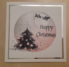Indigo Blu Ickle Christmas tree and Clarity Stamps