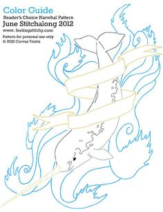 narwhal embroidery pattern