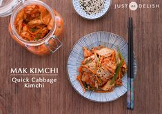 Mak Kimchi (quick cabbage kimchi) - the spicy addictive Korean dish that you must absolutely try, with a dose of natural probiotics | JustAsDelish.com