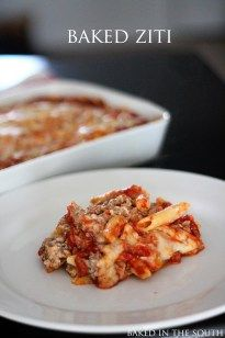 5.0 from 1 reviews Pioneer Woman's Baked Ziti  Print Ingredients ◾1 pound Italian Sausage ◾1 pound Ground Bee ◾2 Tablespoons Olive Oil ◾3 cloves Garlic, Minced ◾1 whole Large Onion, Diced ◾1 can (28 Ounce Can) Whole Tomatoes, With Juice ◾2 cans (14.5 Ounce) Tomato Sauce Or Marinara Sauce ◾2 teaspoons Italian …