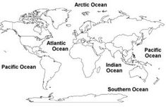 World map coloring pages for kids 5 free printable coloring pages world map with names of oceans gumiabroncs Choice Image