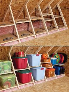 Attic storage - Top Amazing Home Decor Ideas and Hacks (2)