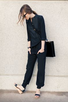all black casual, Emerson Fry Fashion Moda, Look Fashion, Fashion Shoes, Girl Fashion, Style Casual, Style Me, Casual Chic, Casual Wear, Mode Club