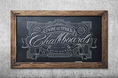 Rustic Framed Chalkboard  Honey Maple by TwineAndTimber on Etsy